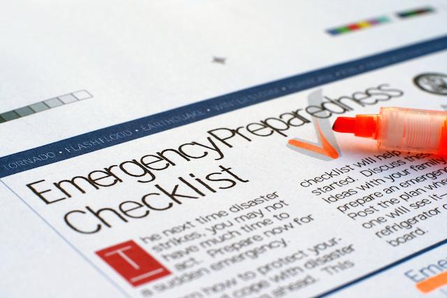 ジャパンボックス | Emergency checklist for earthquakes